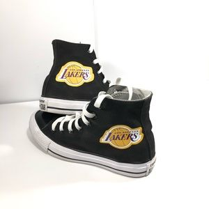 Converse Shoes Lakers Themed